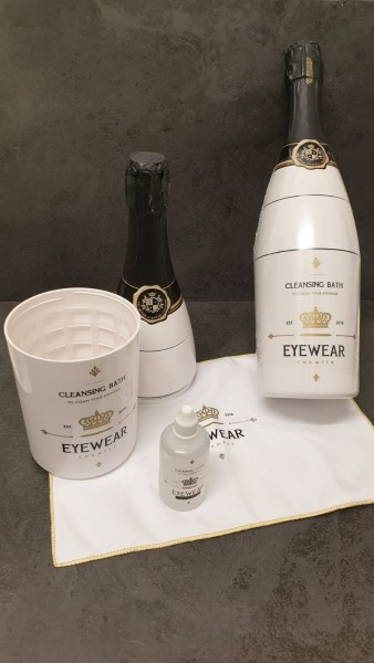 Eyewear Champagner Brillenbad
